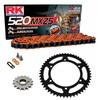Sprockets & Chain Kit RK 520 MXZ4 Orange HUSABERG FC 400 4 MARCHAS 00-01