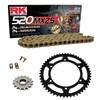 Sprockets & Chain Kit RK 520 MXZ4 Gold HUSABERG FC 400 4 MARCHAS 00-01