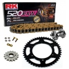 Sprockets & Chain Kit RK 520 EXW Gold HUSABERG FC 400 6 MARCHAS 00-01 Free Riveter
