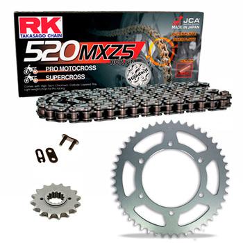Sprockets & Chain Kit RK 520 MXZ4 Black Steel KAWASAKI KL 250 77-78