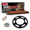 Sprockets & Chain Kit RK 520 MXZ4 Orange POLARIS 400 L 4x4 C/S MidAxle 94