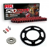 Sprockets & Chain Kit RK 520 MXZ4 Red POLARIS 400 L 4x4 C/S MidAxle 94