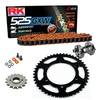 Sprockets & Chain Kit RK 525 GXW Orange YAMAHA MT 07 TRACER 20 Free Rivet Tool!