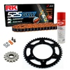 Sprockets & Chain Kit RK 525 GXW Orange YAMAHA MT 07 TRACER 20