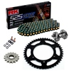 Sprockets & Chain Kit RK 525 GXW Black/Gold YAMAHA MT 07 TRACER 20 Free Rivet Tool!