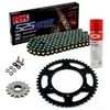 Sprockets & Chain Kit RK 525 GXW Black/Gold YAMAHA MT 07 TRACER 20 Free