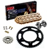Sprockets & Chain Kit RK 525 GXW Gold YAMAHA MT 07 TRACER 20 Free Rivet Tool!