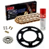 Sprockets & Chain Kit RK 525 GXW Gold YAMAHA MT 07 TRACER 20