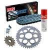 Sprockets & Chain Kit RK 525 GXW Grey Steel DUCATI STREETFIGHTER 1100 V4 20