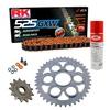 Sprockets & Chain Kit RK 525 GXW Orange DUCATI STREETFIGHTER 1100 V4 20