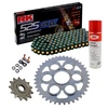 Sprockets & Chain Kit RK 525 GXW Black/Gold DUCATI STREETFIGHTER 1100 V4 20