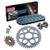 Sprockets & Chain Kit RK 525 GXW Grey Steel DUCATI STREETFIGHTER 1100 V4 20 Free Rivet Tool!
