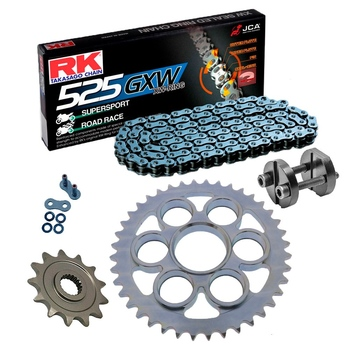Sprockets & Chain Kit RK 525 GXW Grey Steel DUCATI STREETFIGHTER 1100 V4 20