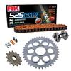 Sprockets & Chain Kit RK 525 GXW Orange DUCATI STREETFIGHTER 1100 V4 20 Free Rivet Tool!