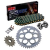 Sprockets & Chain Kit RK 525 GXW Black/Gold DUCATI STREETFIGHTER 1100 V4 20 Free Rivet Tool!