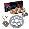 Sprockets & Chain Kit RK 525 GXW Gold DUCATI STREETFIGHTER 1100 V4 20 Free Rivet Tool!