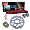 Sprockets & Chain Kit RK 525 GXW Red DUCATI STREETFIGHTER 1100 V4 20 Free Rivet Tool!