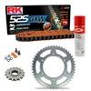 Sprockets & Chain Kit RK 525 GXW Orange BENELLI BN 600 16-19