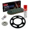 Sprockets & Chain Kit RK 525 GXW Black/Gold YAMAHA MT 07 TRACER 16-19 Free