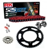 Sprockets & Chain Kit RK 525 GXW Red YAMAHA MT 07 TRACER 16-19 Free Rivet Tool!
