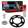 Sprockets & Chain Kit RK 525 GXW Red YAMAHA MT 07 TRACER 16-19