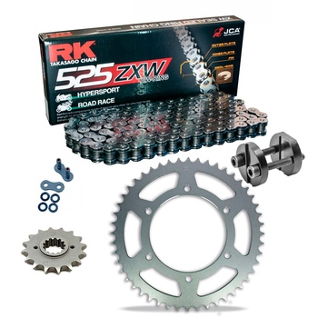 Sprockets & Chain Kit RK 525 ZXW Grey Steel YAMAHA MT 07 TRACER 16-19 Free Riveter