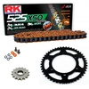 Sprockets & Chain Kit RK 525 XSO Orange YAMAHA MT 07 TRACER 16-19