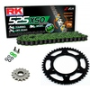 Sprockets & Chain Kit RK 525 XSO Green YAMAHA MT 07 TRACER 16-19