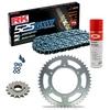 Sprockets & Chain Kit RK 525 GXW Grey Steel KTM Super Duke 1290 14-15