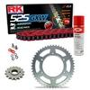 Sprockets & Chain Kit RK 525 GXW Red KTM Super Duke 1290 14-15
