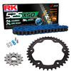 Sprockets & Chain Kit RK 525 XSO Blue KTM Super Duke R 1290 16-19