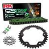 Sprockets & Chain Kit RK 525 XSO Green KTM Super Duke R 1290 16-19
