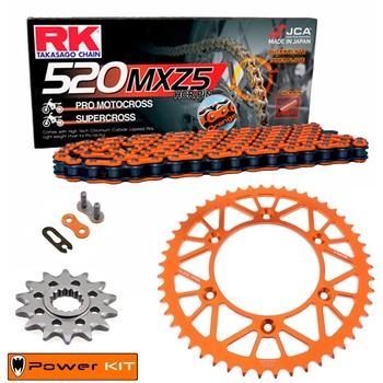 KIT DE ARRASTRE KTM 144 SX 08 Power Kit Aluminio 520 MXZ4 naranja