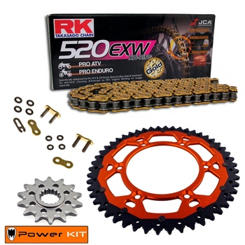KIT DE ARRASTRE RK KTM 200 SX 03-04 Reforzado Premium Off Road