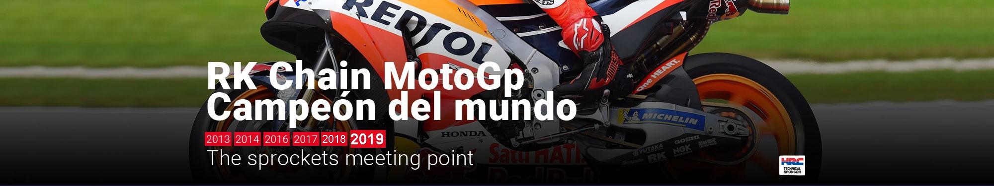 RK Chain - Campeón del mundo MotoGP